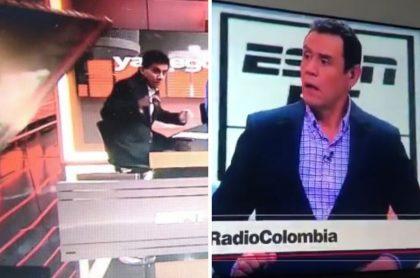 Accidente en ESPN Colombia en la que pantalla gigante le cayó encima a periodista