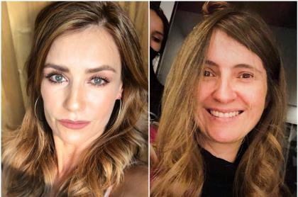 Foto de Marcela Mar y Paloma Valencia, a propósito de si la actriz encarnaría a la senadora