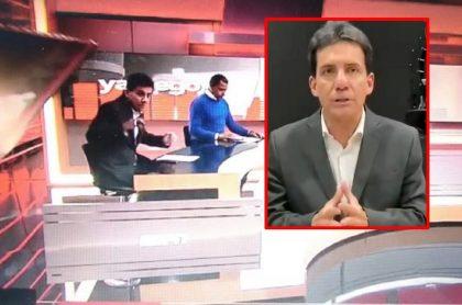 Periodista Carlos Orduz hablando del accidente que sufrió en ESPN Radio Colombia
