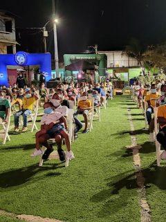 Imagen de las funciones de cine en San Andrés y Providencia.