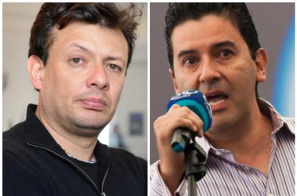 Hollman Morris y Néstor Morales, que discutieron en vivo