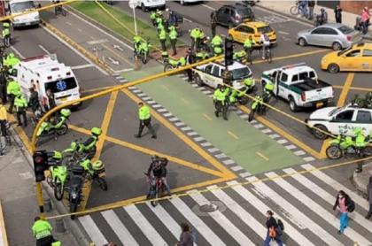 Balacera en Carrera Séptima de Bogotá hoy 10 de marzo, que habría dejado dos muertos
