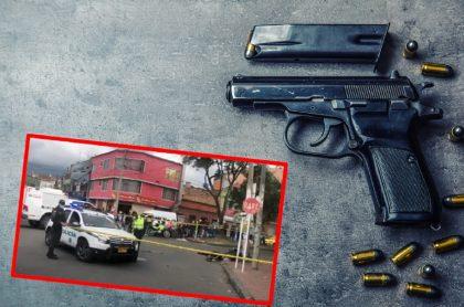 Imágenes que ilustran una balacera en Bogotá