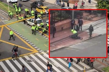 Balacera en la Carrera Séptima en Bogotá y capturado luego de la misma, quien es de nacionalidad venezolana