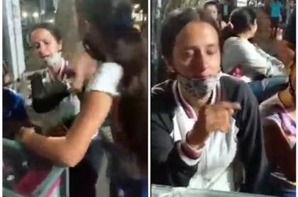 Mamá golpeada por sus hijos en Armenia