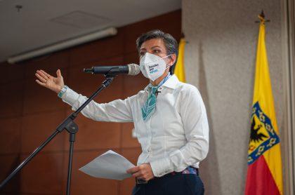 Imagen de Claudia López, quien es acusada de xenofobia contra venezolanos en Bogotá