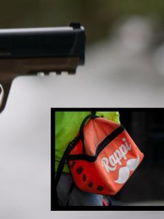 Imagen de arma que ilustra nota; Balacera en carrera Séptima de Bogotá: compañero de policía muerto da detalles