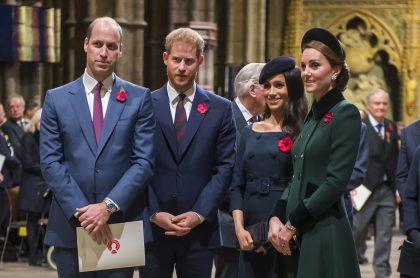 Foto de Príncipe William, príncipe Harry, Meghan Markle y Kate Middleton, a propósito de crítica por entrevista con Oprah Winfrey