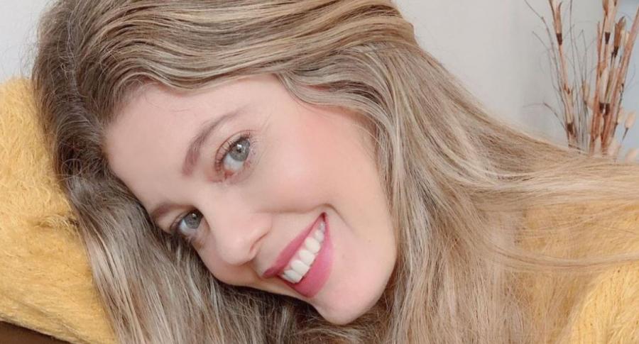 Lorna Cepeda, actriz que está feliz en su rol de abuela con la nieta que le dio su hija Daniela Paz.