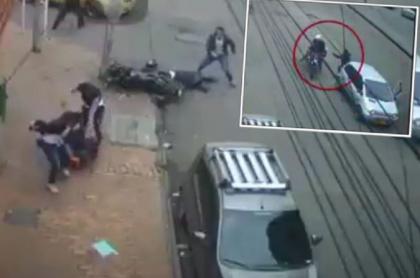 Imágenes muestran que el ciudadano desarmó a los ladrones y mató a uno de ellos, en una calle del barrio Restrepo, en el sur de Bogotá
