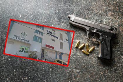 Imagen de la Clínica Los Almendros, a donde llegó un presunto ladrón.