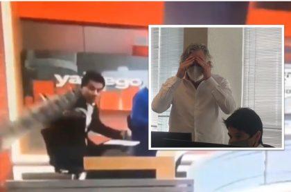 Reacción en El Chiringuito al accidente de Carlos Orduz en el programa de ESPN.