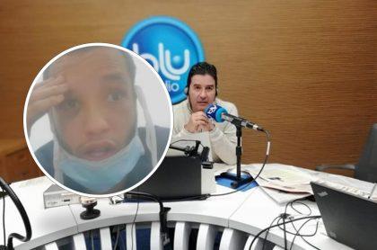 Wilkerson Hernández, venezolano implicado en asesinato de policía en Bogotá, y Néstor Morales, periodista que deseó que el extranjero se pudra en la cárcel