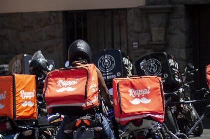 Imagen de motos que ilustra nota; Alcaldía de Bogotá prohíbe parrillero en motos de domicilios