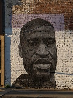 Muro de homenaje a George Floyd.