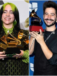 Foto de Billie Eilish, Camilo y Taylor Swift, a propósito de dónde y a qué hora ver los Grammy 2021