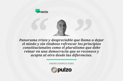 Frase destacada sobre columna de camino electoral a 2022 en Colombia