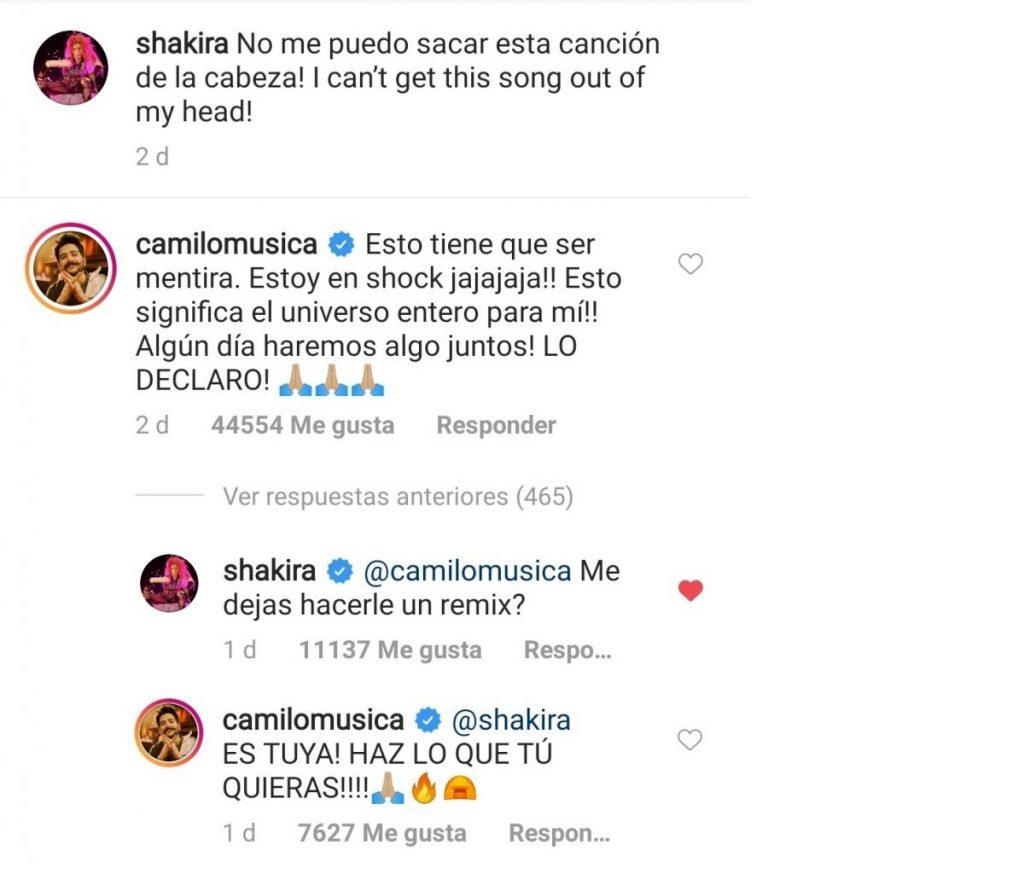 Captura de pantalla Instagram Shakira.
