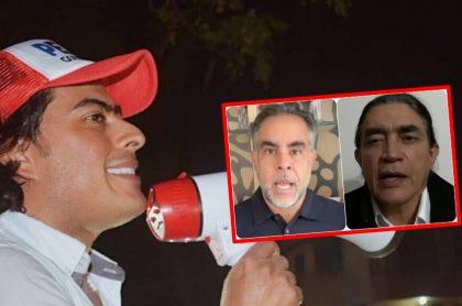 Nicolás Petro, Armando Benedetti y Gustavo Bolívar, muy activos en la actividad política.