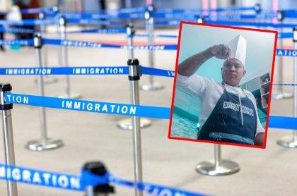 Imágenes que ilustran la vivencia del chef Edwards Cabarcas en un aeropuerto de México.