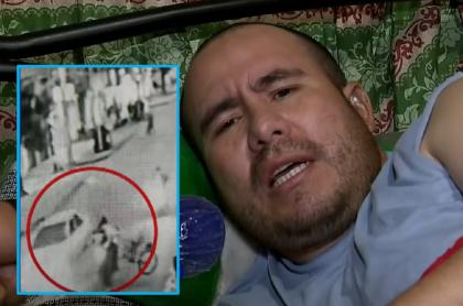 Imágenes del ciclista que fue arrollado en Bogotá.