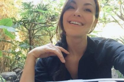 Carolina Gómez mostró su figura en una foto en ropa interior.