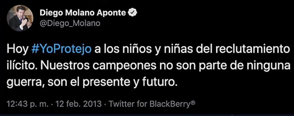 Twitter @Diego_Molano