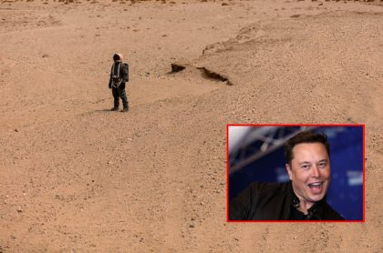 Hombre simula estar en Marte y Elon Musk, ilustran nota de astrofísico se critica planes de Musk de colonizar Marte