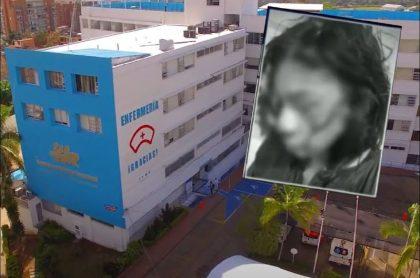 Imagen de la joven María Camila Díaz, que fue golpeada y empalada por su pareja en Fusagasugá y que está grave de salud en un hospital