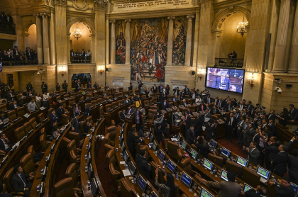 Foto del congreso de Colombia, a propósito de gastos de representación