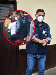 Jorge Iván Ospina, que pagará multa por andar sin casco y de parrillero en moto, cosa que él prohibió
