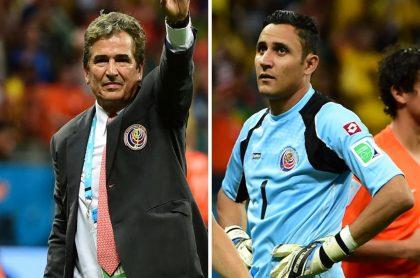 Jorge Luis Pinto y Keylor Navas, quien negó haber conspirado para que echaran al colombiano de Costa Rica