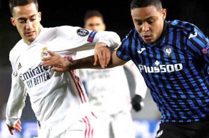 Golazo de Luis Muriel al Real Madrid en Champions League; Atalanta, eliminado.