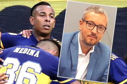 """Boca Juniors rechaza """"racismo"""" de argentino Pablo Carrozza hacia colombianos. Fotomontaje: Pulzo."""