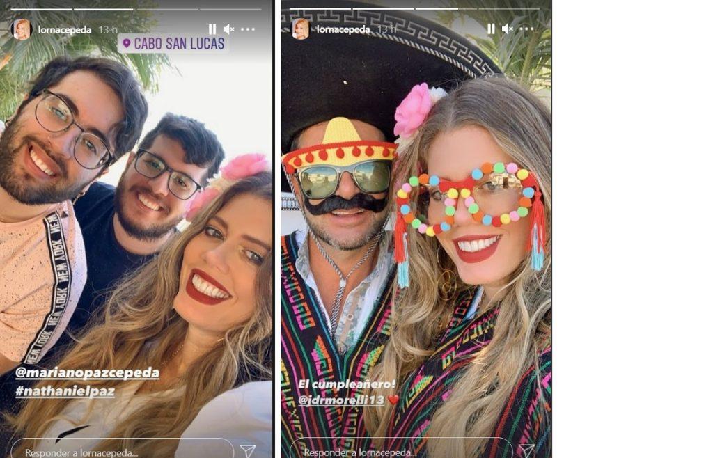 Capturas de pantalla Instagram lornacepeda.