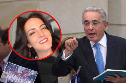 María Fernanda Cabal y Álvaro Uribe, que rechazó propuesta de legalizar porte de armas
