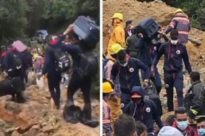 Jugadores del Deportivo Pasto tienen que caminar por trocha antes de trasladarse a Bogotá para enfrentar a La Equidad por Copa Sudamericana.