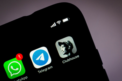 Foto de logo de Telegram ilustra nota sobre su función de chats de audios