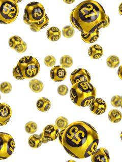 Balotas doradas a propósito de resultados de la Lotería de la Cruz Roja, que ya cayó en marzo, y la Lotería del Huila del 16 de marzo.