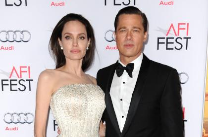 Angelina Jolie presenta pruebas de violencia domestica. Foto de Angelina Jolie y Brad Pitt