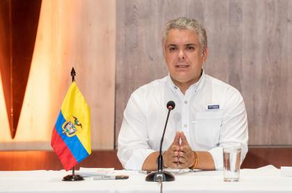 Proyecto para alargar el periodo y mandato de Iván Duque y otros altos cargos. Iván Duque, en Ibagué, marzo 2021.