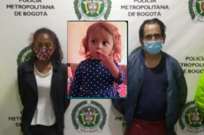 Carolina Galván y Nilson Díaz, capturados como presuntos responsables de desaparecer a la niña Sara Sofía en Bogotá