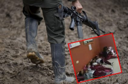 Imágenes que ilustran cómo niños se cubrieron de hostigamiento de disidencias en el Cauca.