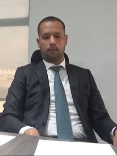 Iván Cancino, abogado de Diego Cadena que explicó por qué regañó a su cliente, y Diego Cadena