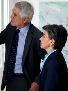Enrique Peñalosa y Claudia López.