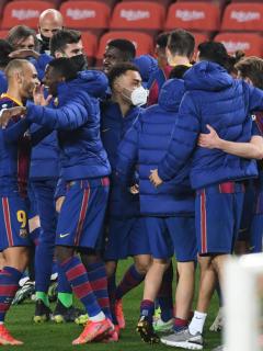 Foto de Barcelona F.C. ilustra nota sobre su posible primer refuerzo