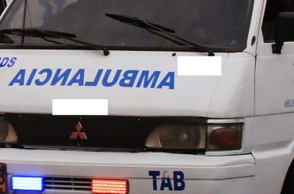 Ladrones atracan ambulancia enAntioquia; robaron hasta a la paciente