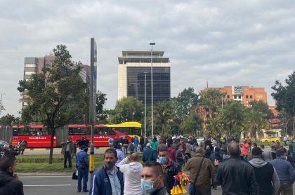 Transmilenio: Protestas de conductores de SITP bloquean la calle 26 en Bogotá