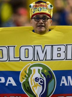 Hincha de la Selección Colombia, como los que podrían entrar a los estadios de la Copa América según confirmó Conmebol