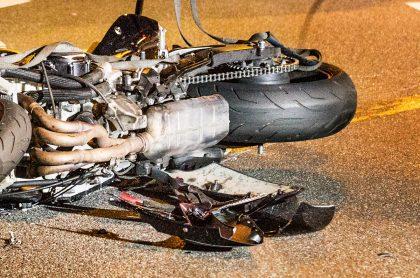 Imagen de moto que ilustra nota; motociclista muere en accidente de tránsito con camión al sur de Bogotá